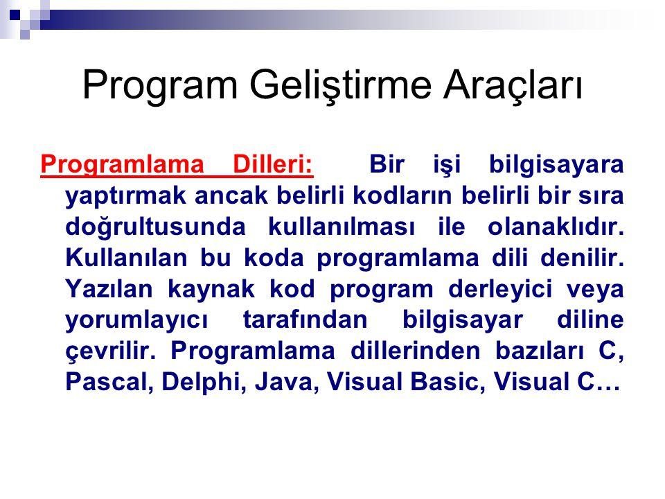 Program Geliştirme Araçları