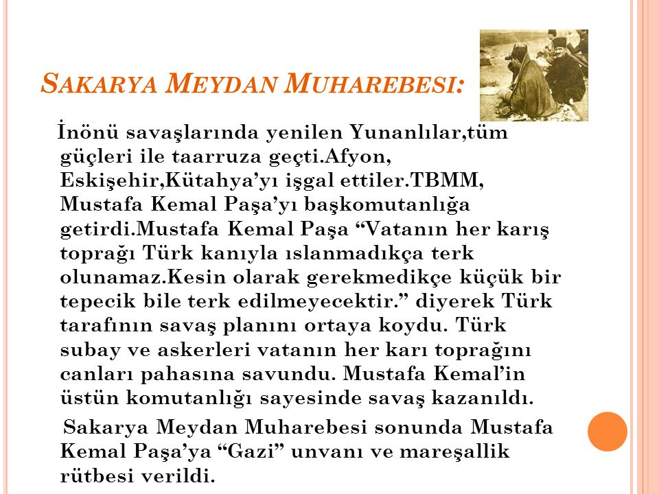 Sakarya Meydan Muharebesi: