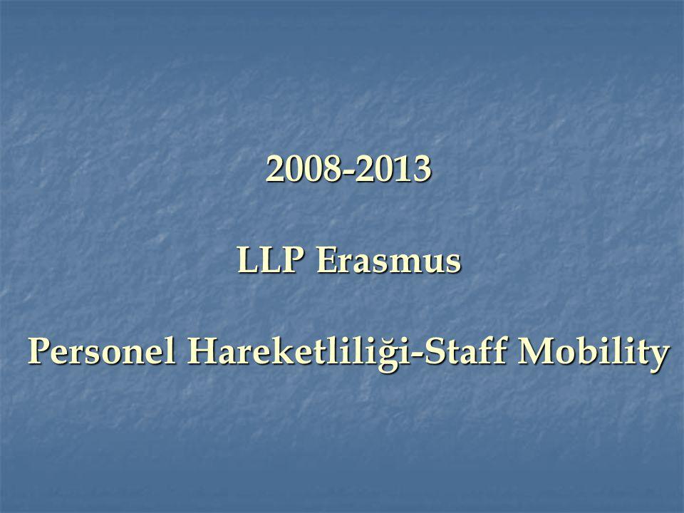 2008-2013 LLP Erasmus Personel Hareketliliği-Staff Mobility