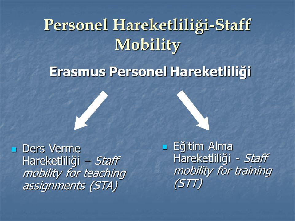 Personel Hareketliliği-Staff Mobility