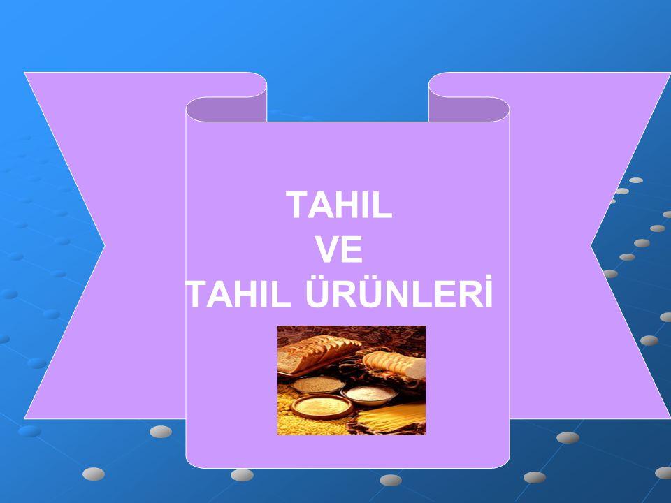 TAHIL VE TAHIL ÜRÜNLERİ