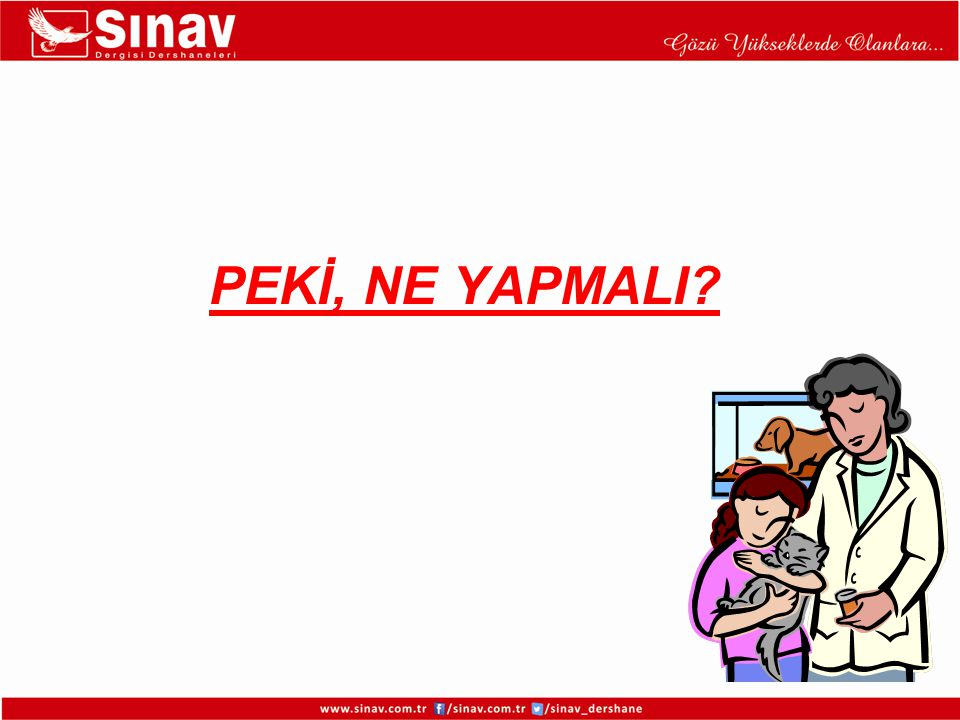 PEKİ, NE YAPMALI