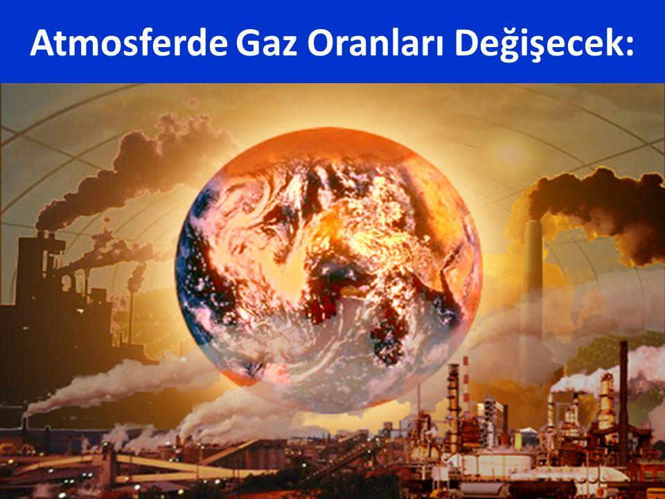 Atmosferde Gaz Oranları Değişecek: