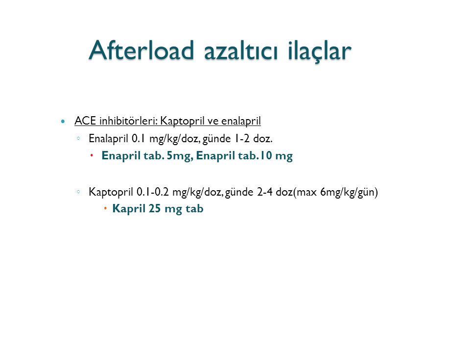 Afterload azaltıcı ilaçlar