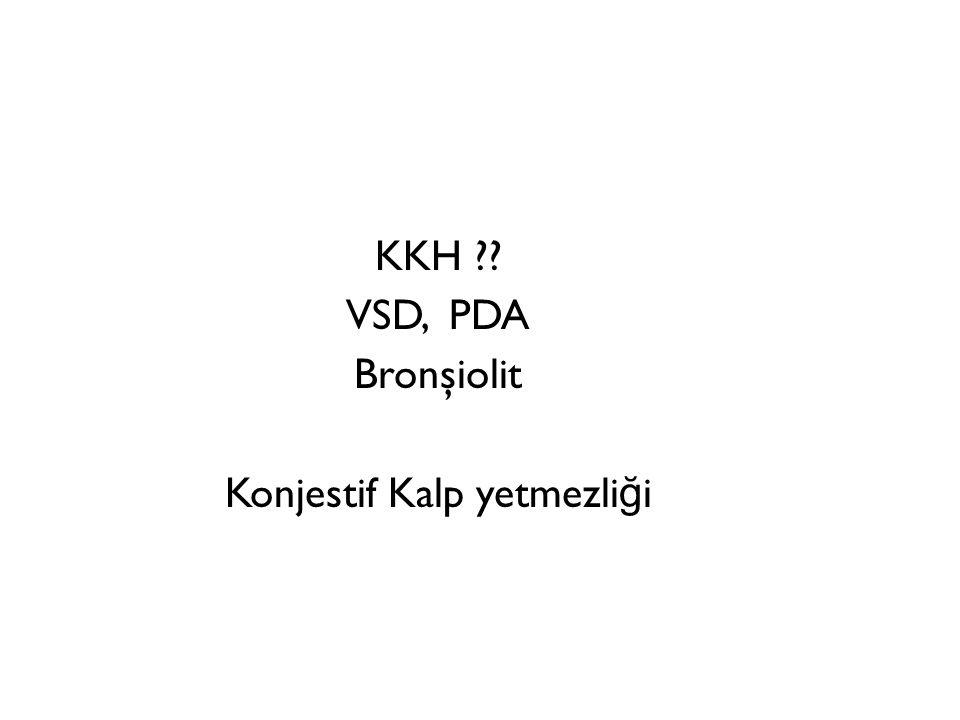 KKH VSD, PDA Bronşiolit Konjestif Kalp yetmezliği