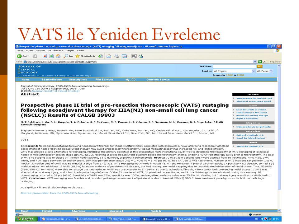 VATS ile Yeniden Evreleme
