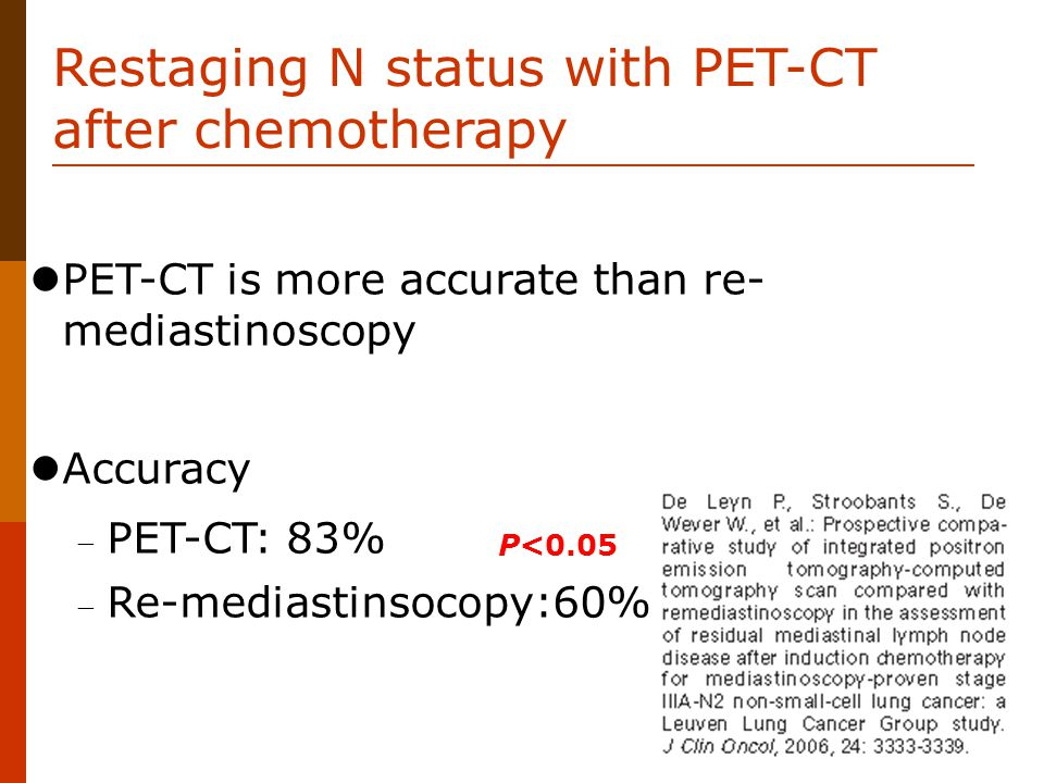 Restaging N status with PET-CT after chemotherapy