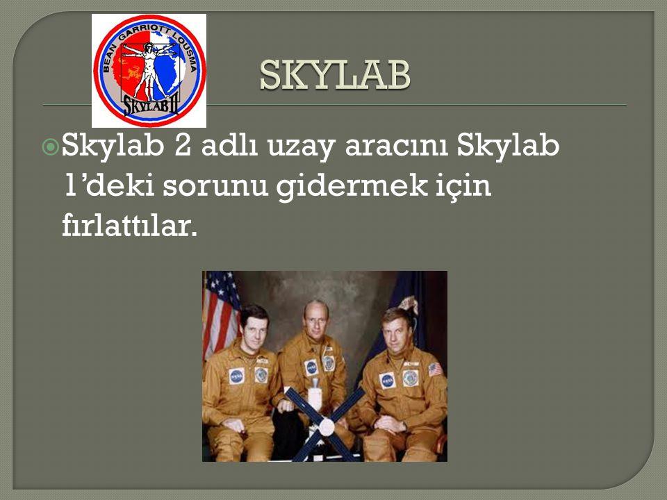 SKYLAB Skylab 2 adlı uzay aracını Skylab 1'deki sorunu gidermek için fırlattılar.