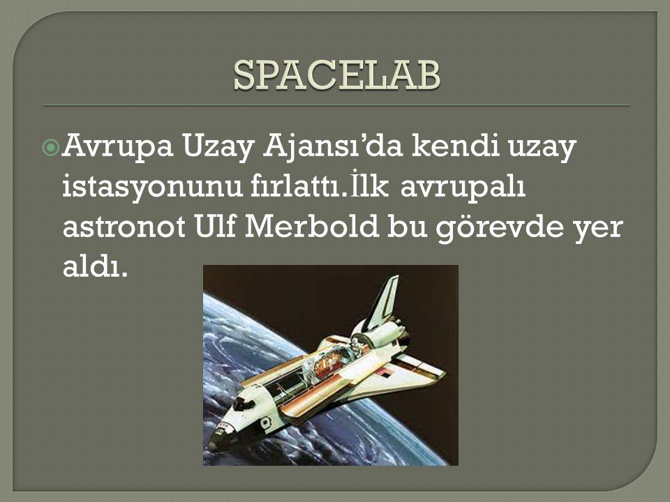 SPACELAB Avrupa Uzay Ajansı'da kendi uzay istasyonunu fırlattı.İlk avrupalı astronot Ulf Merbold bu görevde yer aldı.