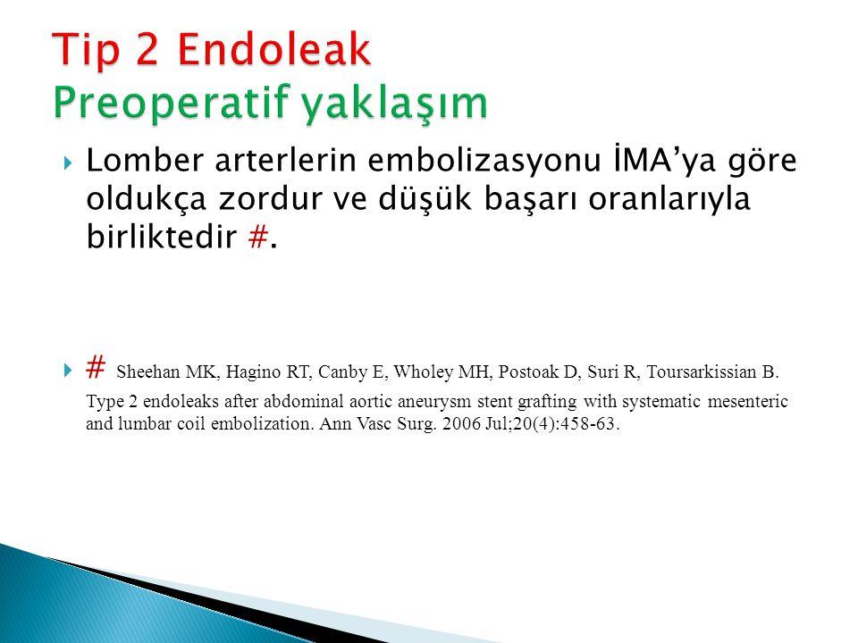 Tip 2 Endoleak Preoperatif yaklaşım