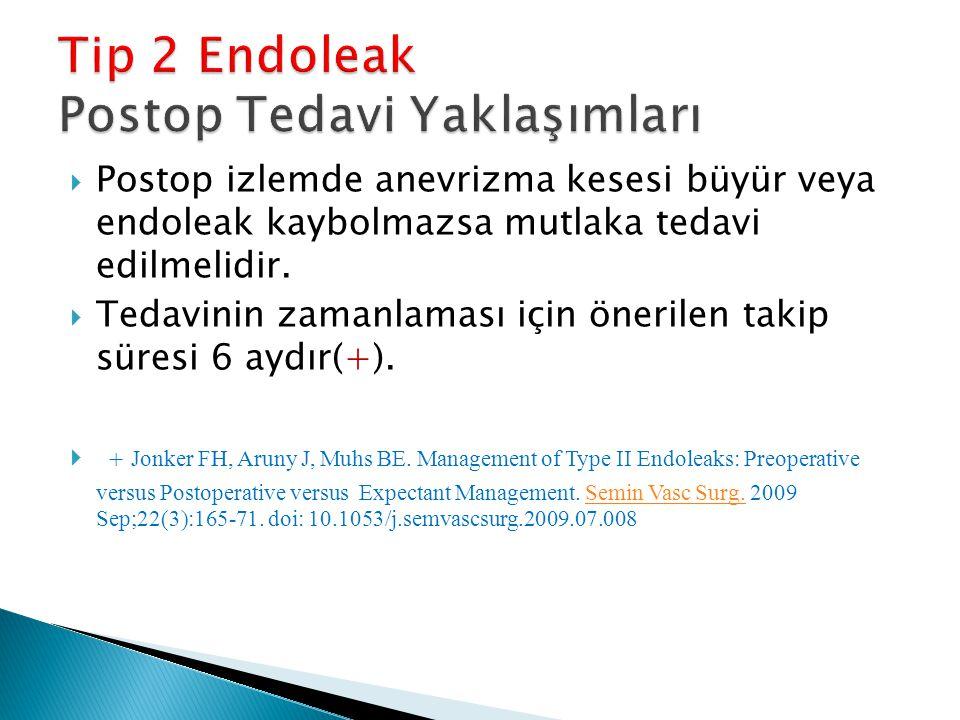 Tip 2 Endoleak Postop Tedavi Yaklaşımları
