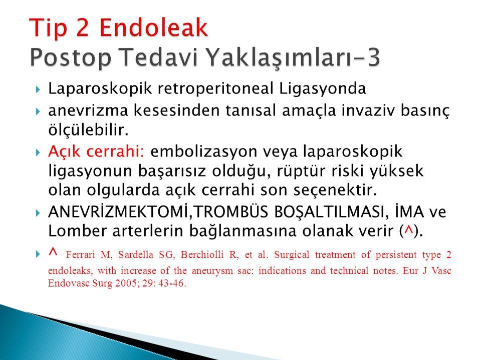 Tip 2 Endoleak Postop Tedavi Yaklaşımları-3