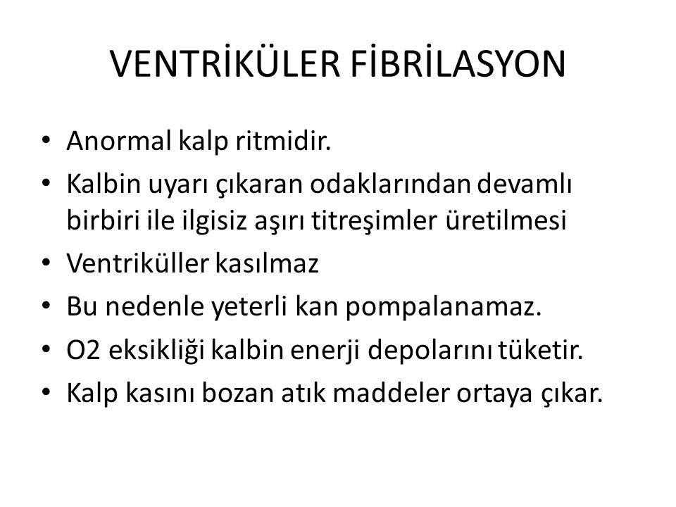 VENTRİKÜLER FİBRİLASYON