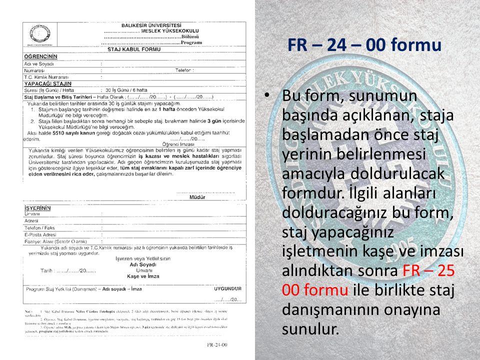 FR – 24 – 00 formu
