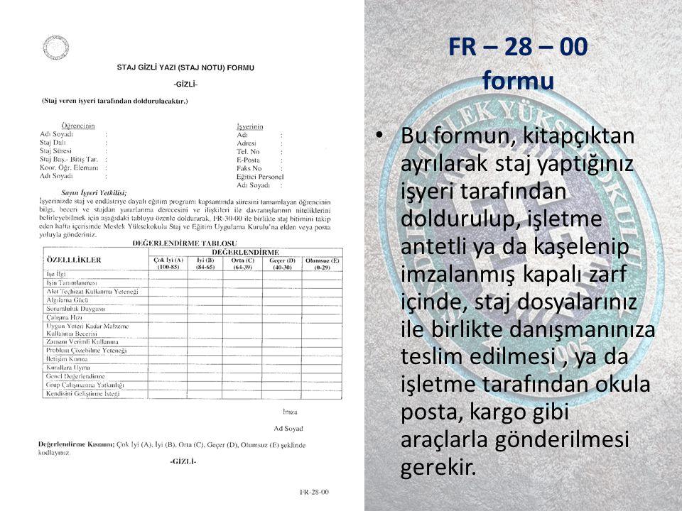 FR – 28 – 00 formu