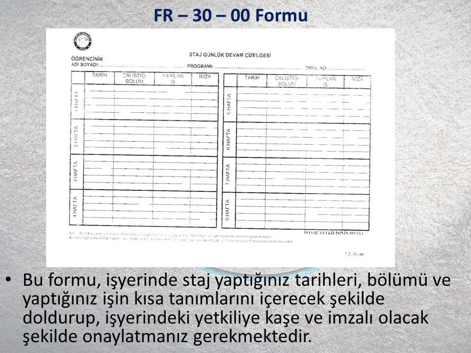 FR – 30 – 00 Formu