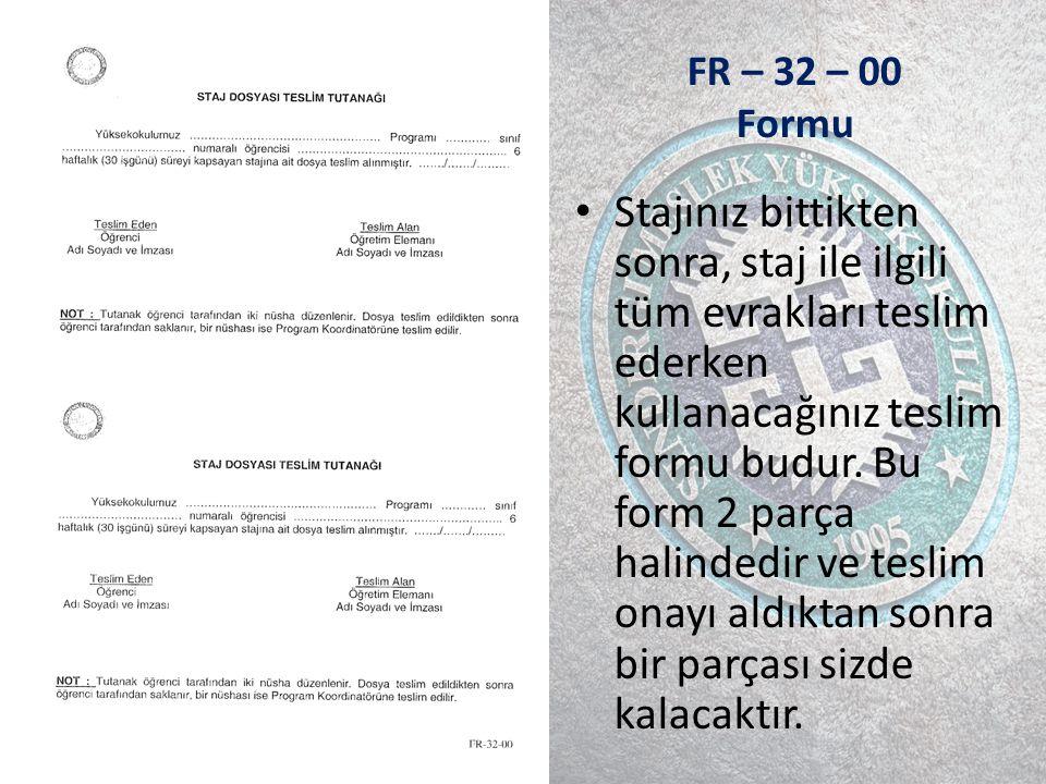 FR – 32 – 00 Formu