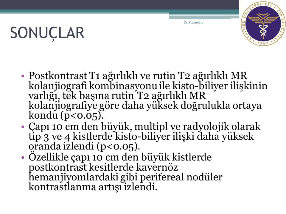 SONUÇLAR Dr.Pirimoğlu.