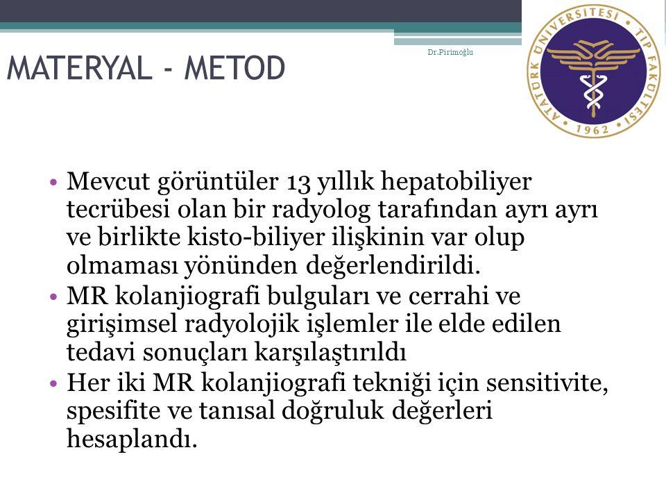 MATERYAL - METOD Dr.Pirimoğlu.