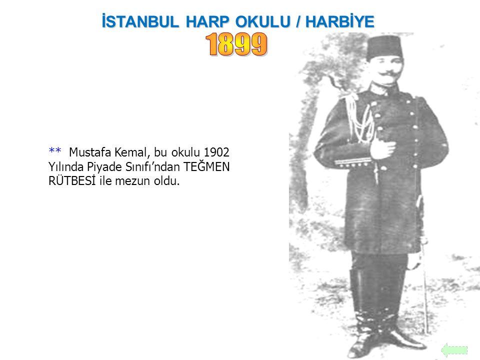 İSTANBUL HARP OKULU / HARBİYE