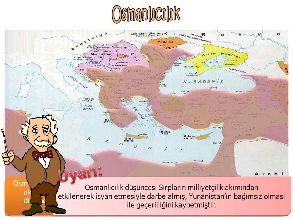 Osmanlıcılık düşüncesi Sırpların milliyetçilik akımından