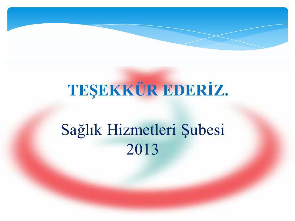 Sağlık Hizmetleri Şubesi 2013