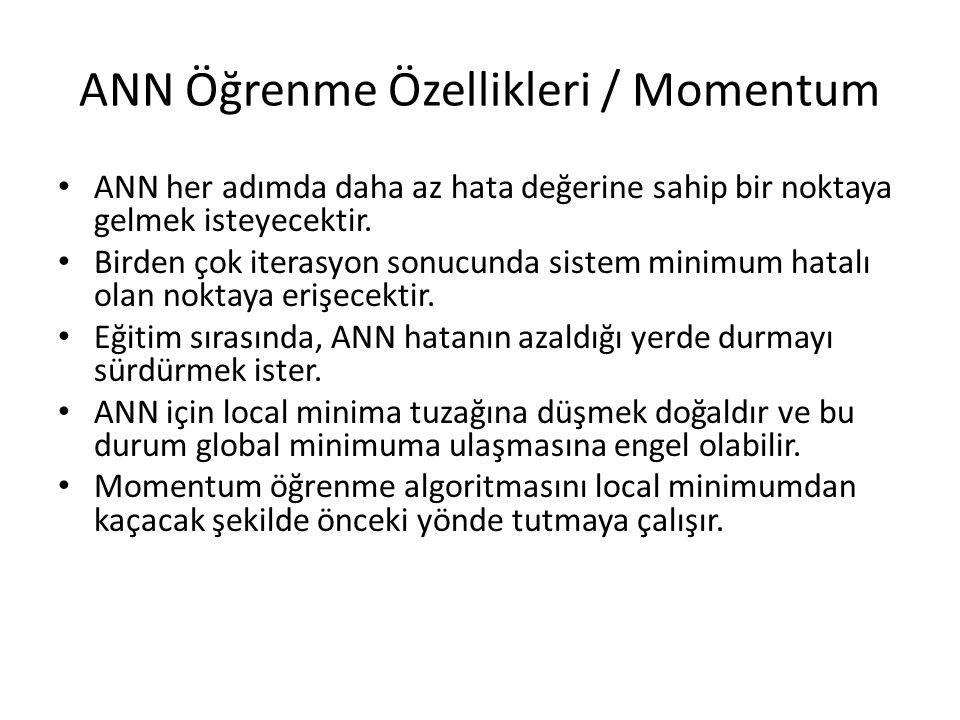ANN Öğrenme Özellikleri / Momentum