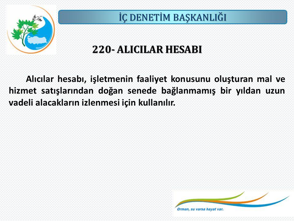 220- ALICILAR HESABI