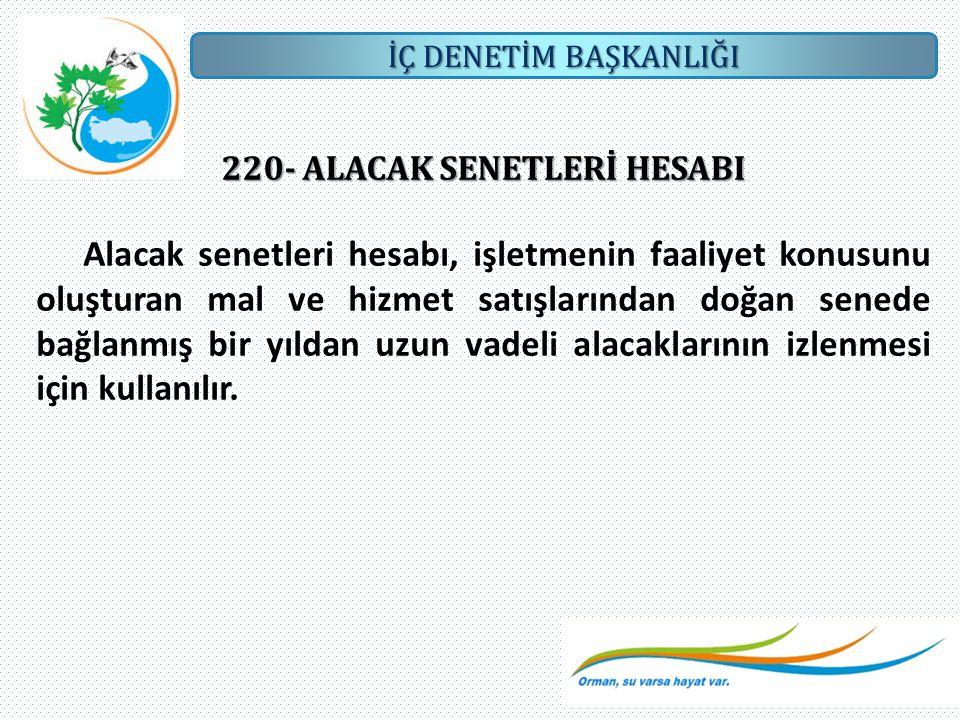 220- ALACAK SENETLERİ HESABI
