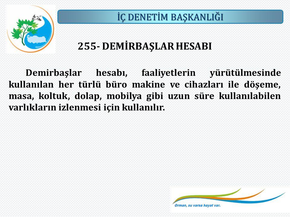 255- DEMİRBAŞLAR HESABI