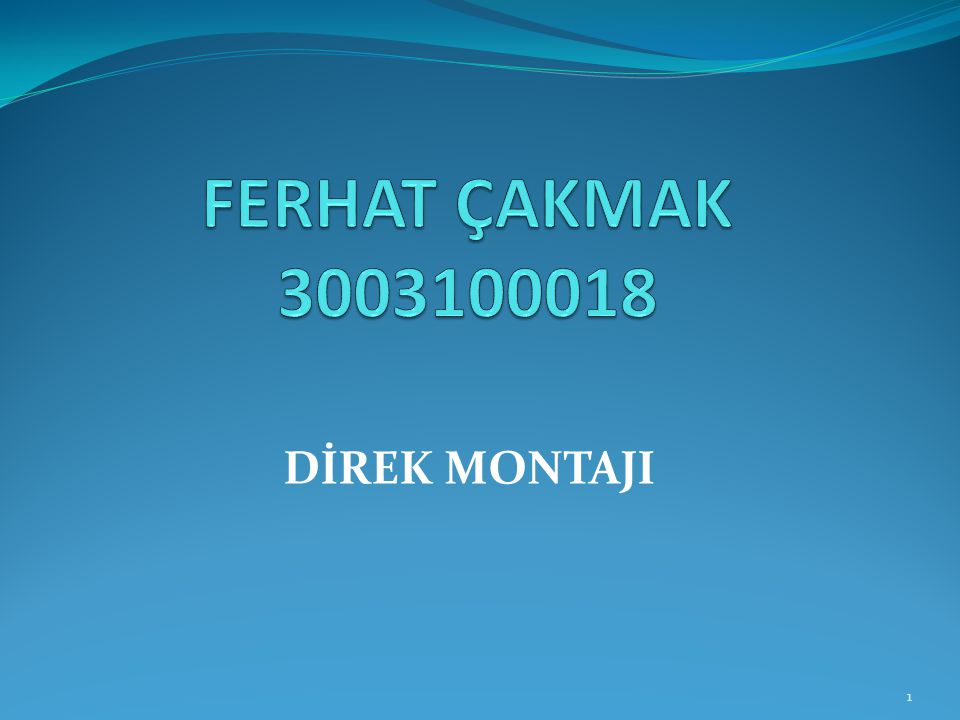 FERHAT ÇAKMAK 3003100018 DİREK MONTAJI