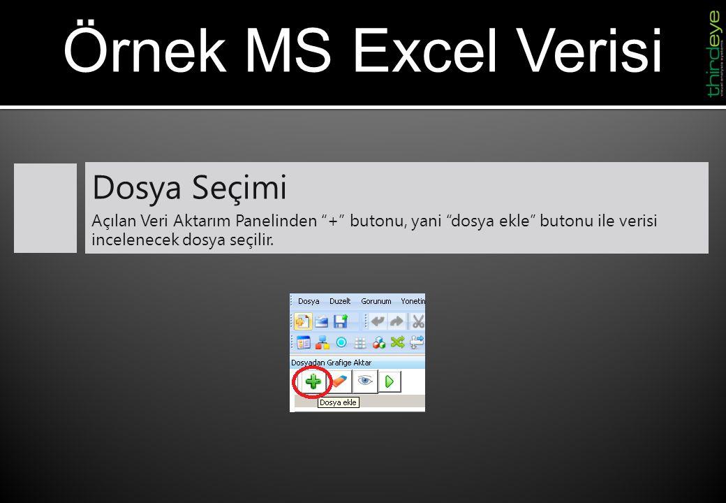 Örnek MS Excel Verisi Dosya Seçimi