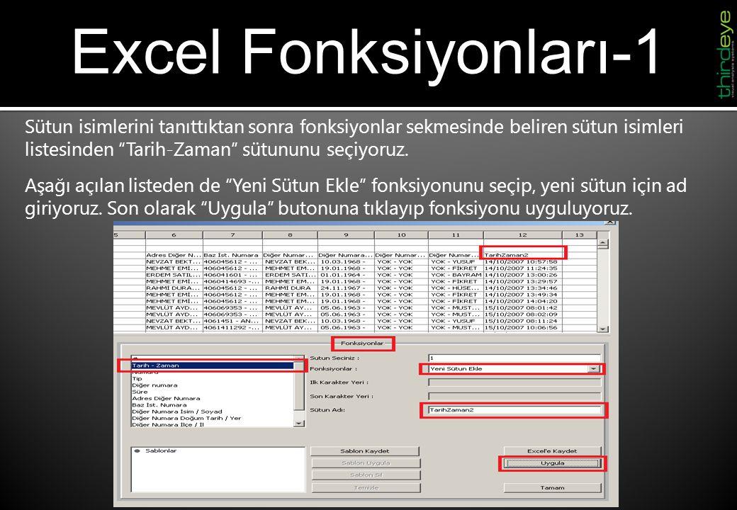 Excel Fonksiyonları-1