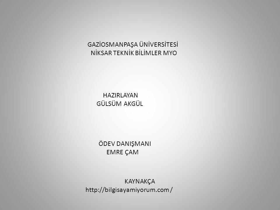 GAZİOSMANPAŞA ÜNİVERSİTESİ