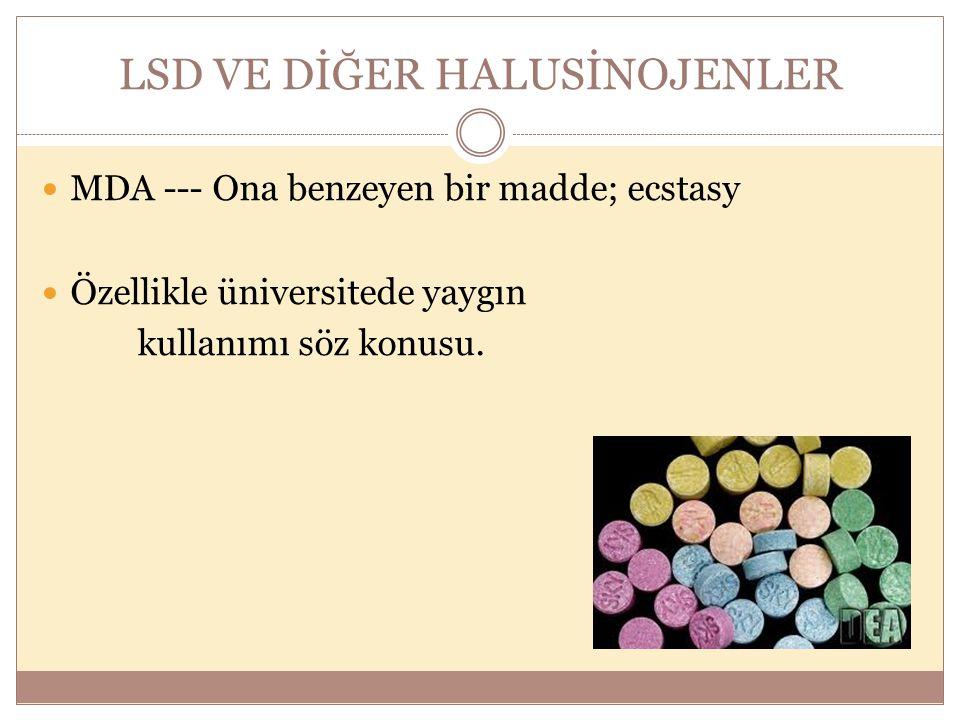LSD VE DİĞER HALUSİNOJENLER