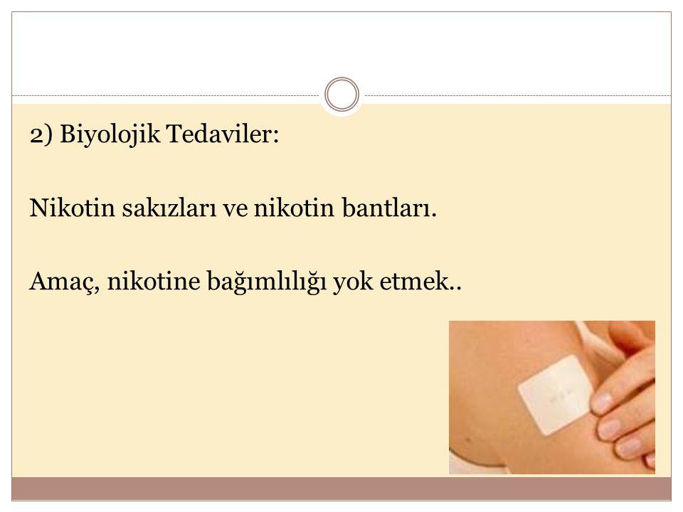 2) Biyolojik Tedaviler: Nikotin sakızları ve nikotin bantları