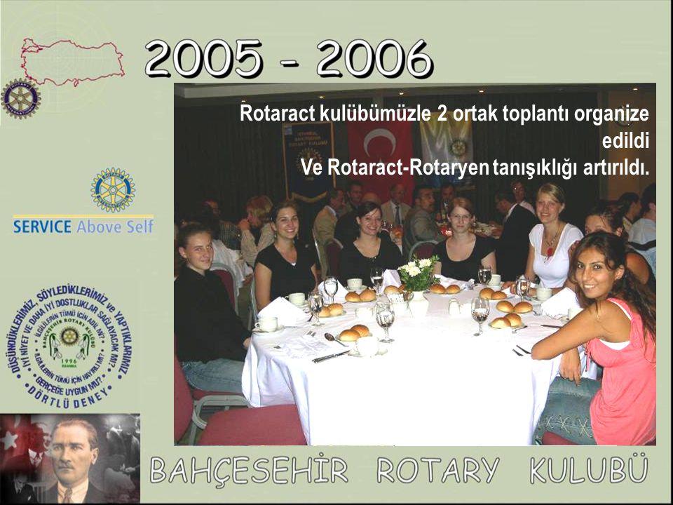 Rotaract kulübümüzle 2 ortak toplantı organize edildi