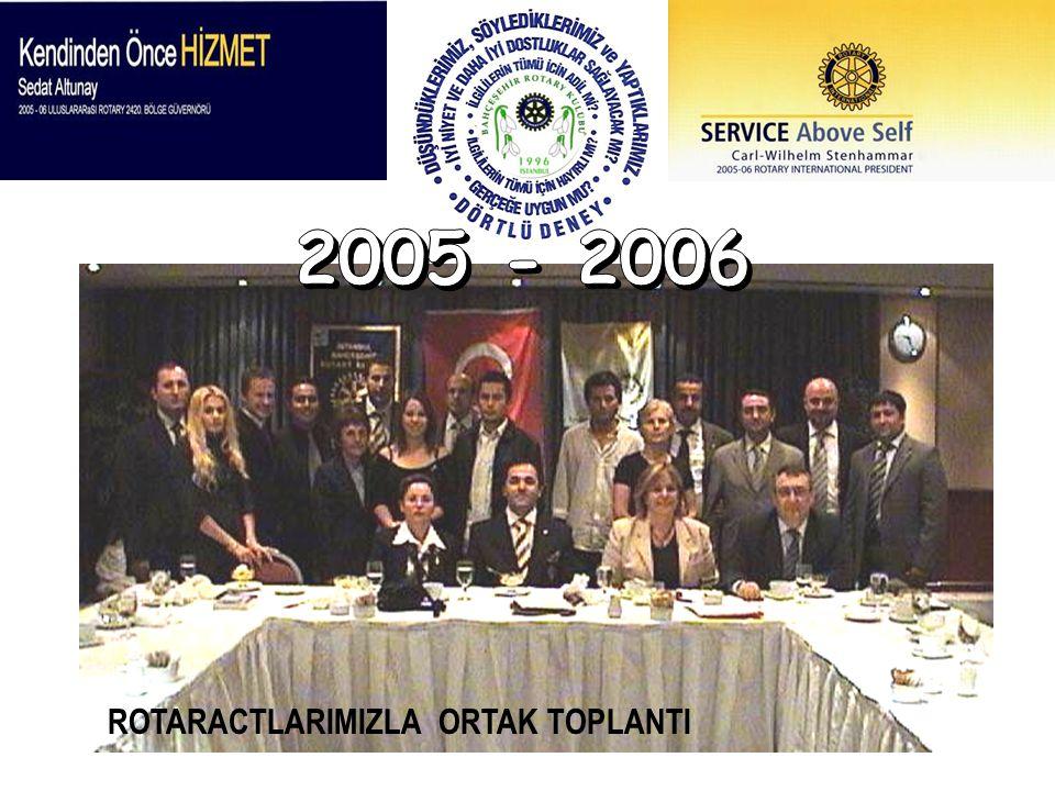 2005 - 2006 ROTARACTLARIMIZLA ORTAK TOPLANTI