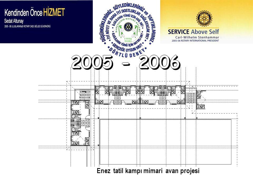 2005 - 2006 Enez tatil kampı mimari avan projesi