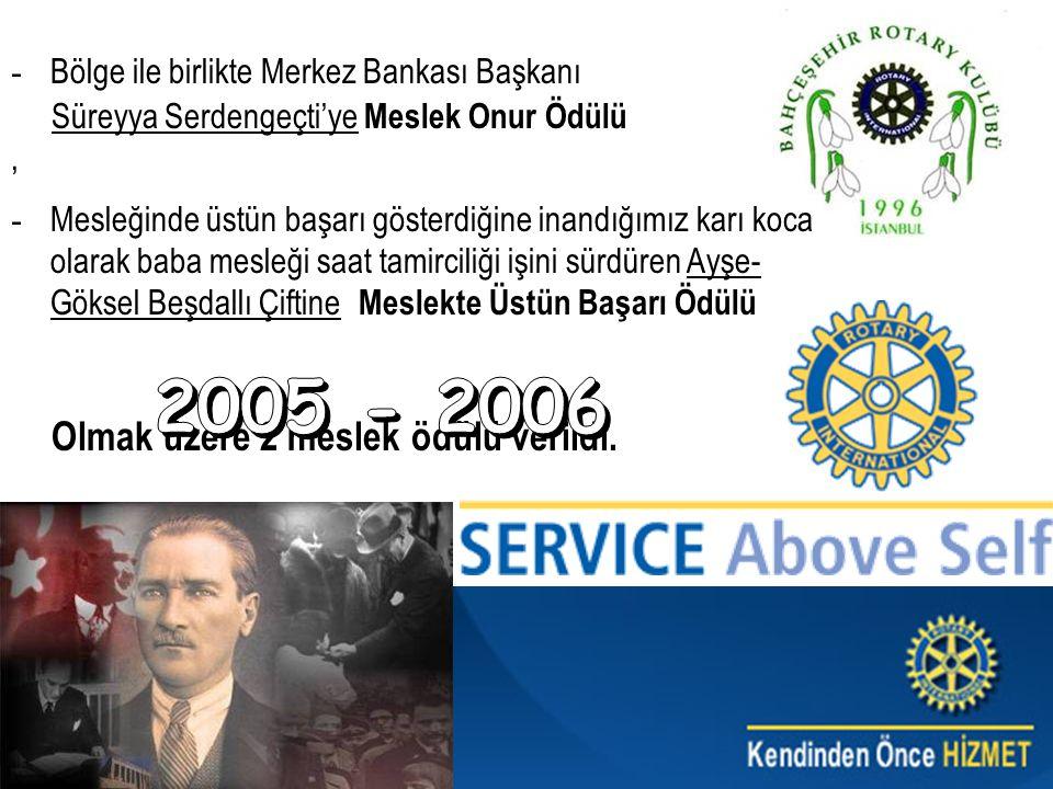 2005 - 2006 Bölge ile birlikte Merkez Bankası Başkanı