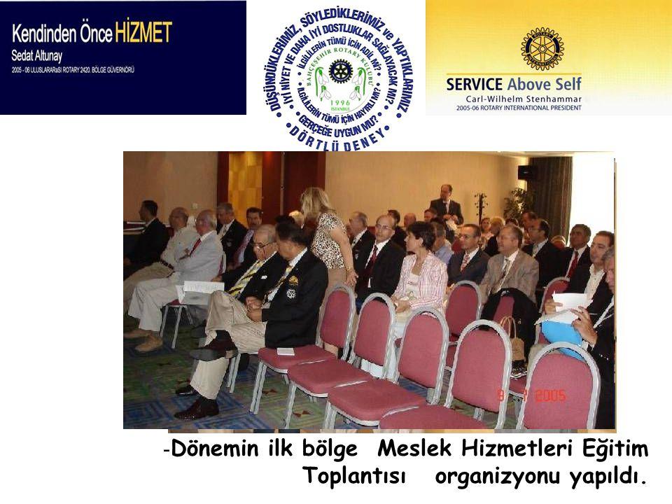 Dönemin ilk bölge Meslek Hizmetleri Eğitim Toplantısı organizyonu yapıldı.