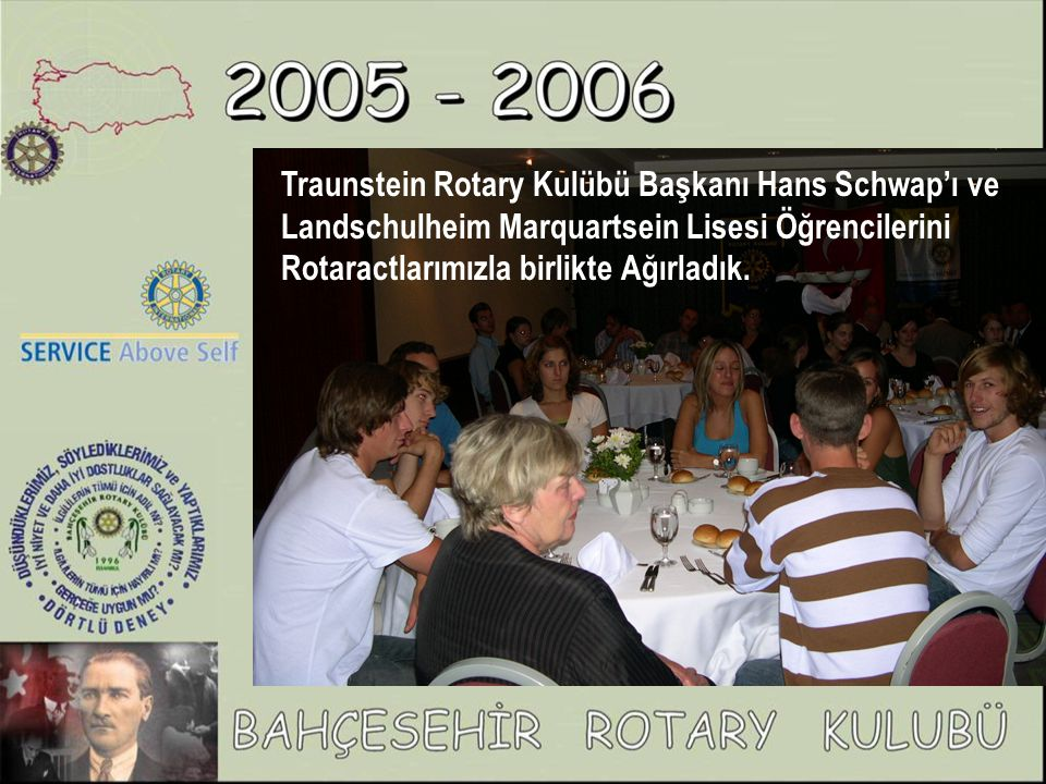 Traunstein Rotary Kulübü Başkanı Hans Schwap'ı ve Landschulheim Marquartsein Lisesi Öğrencilerini Rotaractlarımızla birlikte Ağırladık.