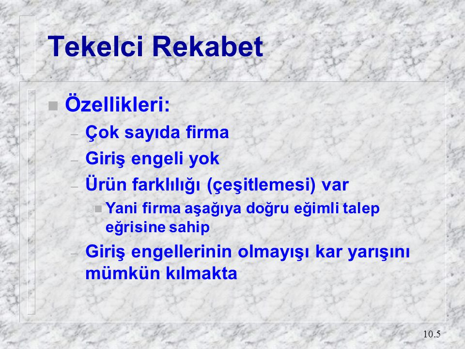 Tekelci Rekabet (2) MC £ AC F D MR Q1