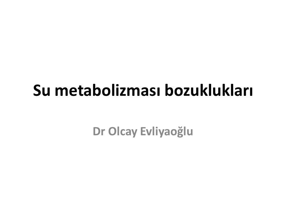 Su metabolizması bozuklukları