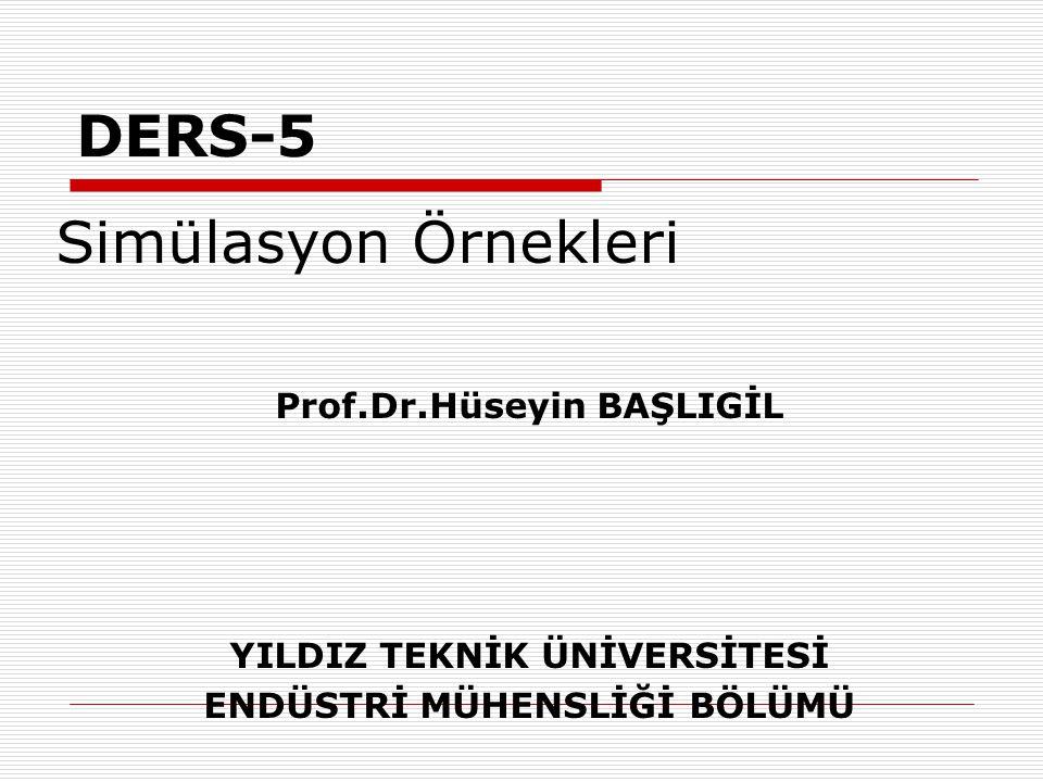 DERS-5 Simülasyon Örnekleri Prof.Dr.Hüseyin BAŞLIGİL