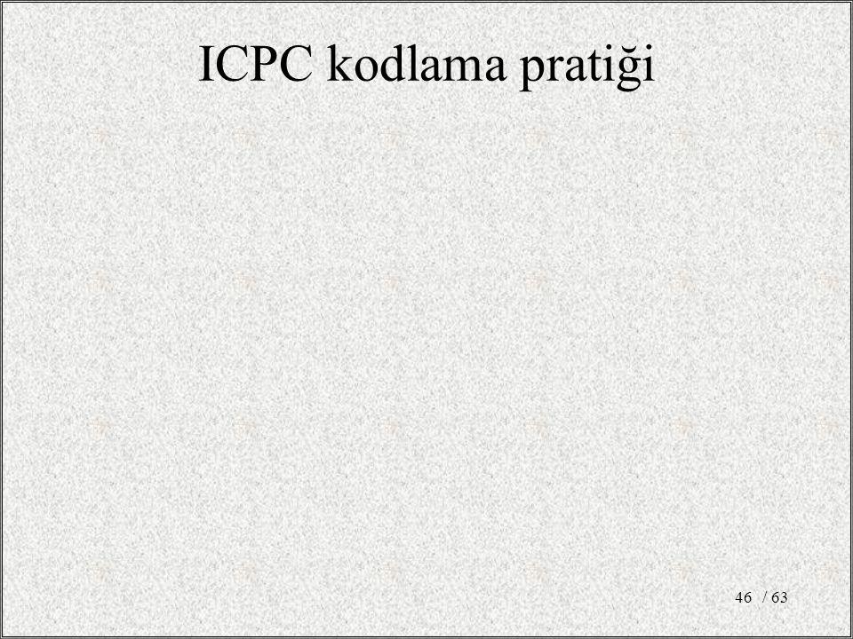 ICPC kodlama pratiği / 63