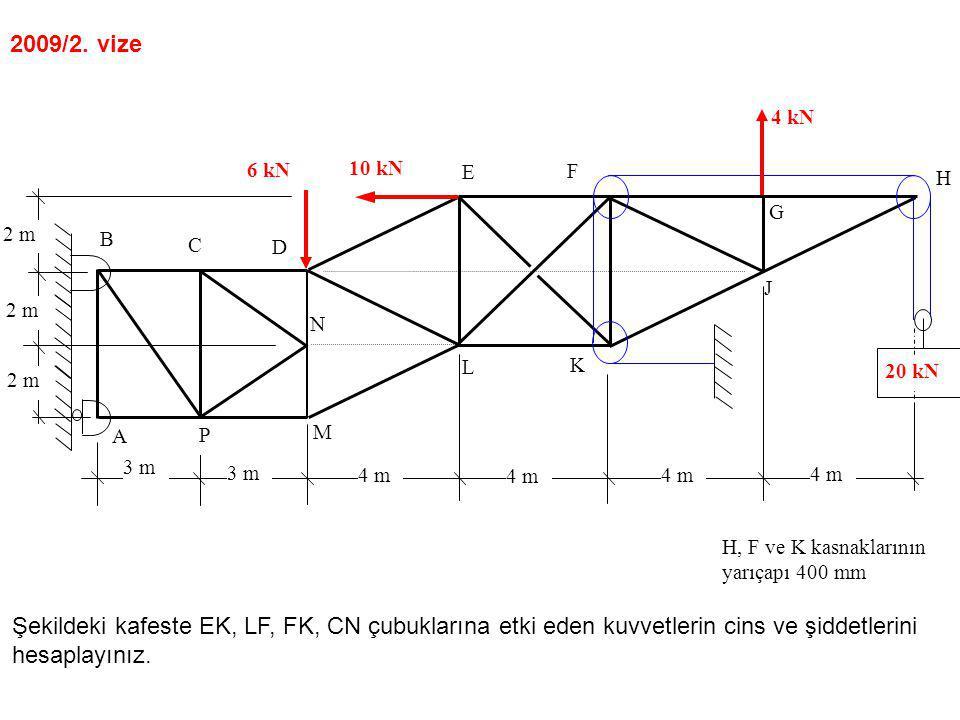 2009/2. vize 2 m. 4 m. 3 m. A. B. C. D. E. F. G. N. M. L. K. J. H. P. 10 kN. 6 kN.