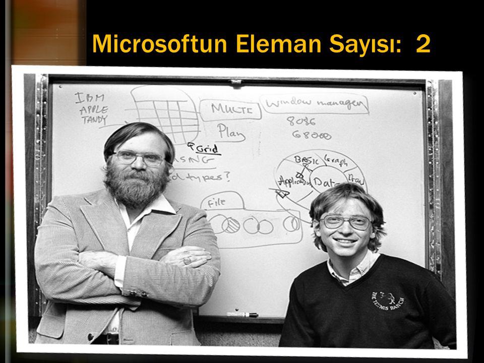 Microsoftun Eleman Sayısı: 2