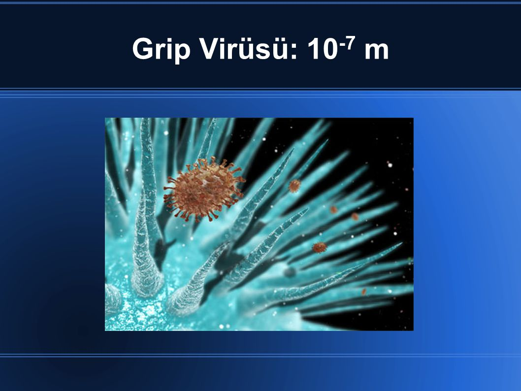 Grip Virüsü: 10-7 m