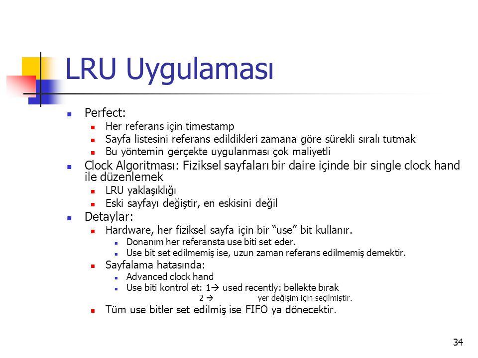 LRU Uygulaması Perfect: